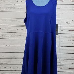 NWT Blue Plus Size ESPRESS0 LA Midi Dress